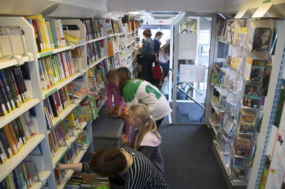 Foto Bücherbus Innen