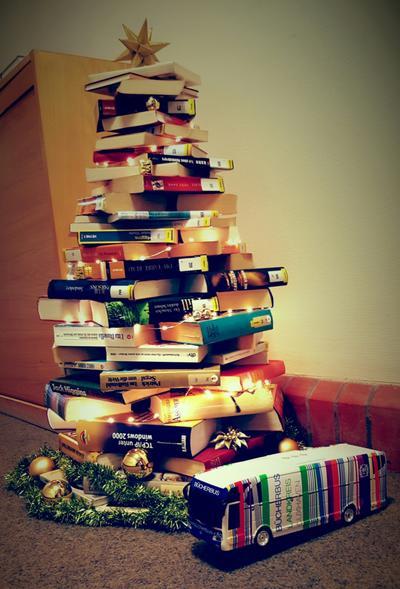 Foto Weihnachtsbaum Fahrbücherei