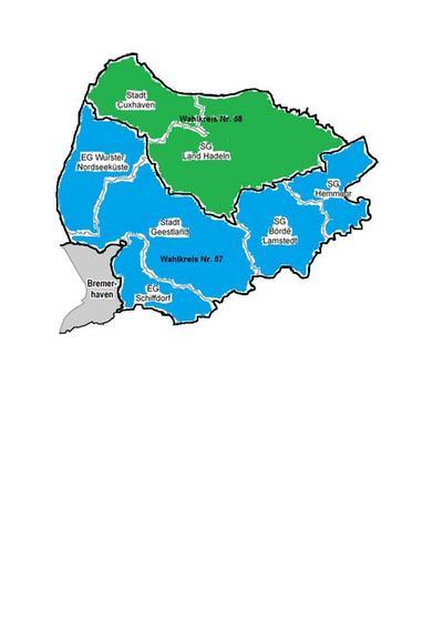 Wahlkreise Nr. 57 und 58